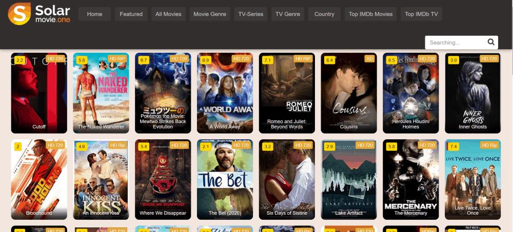 SolarMovie Website