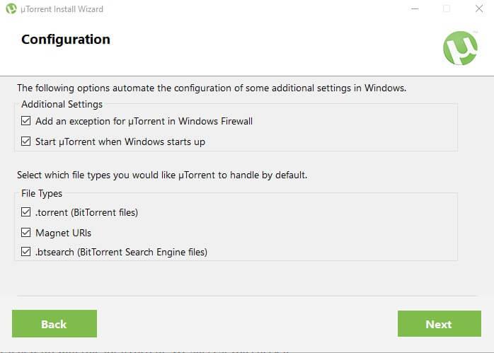 select firewall rule utorrent