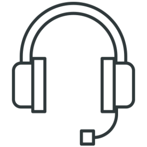 an icon of headphones