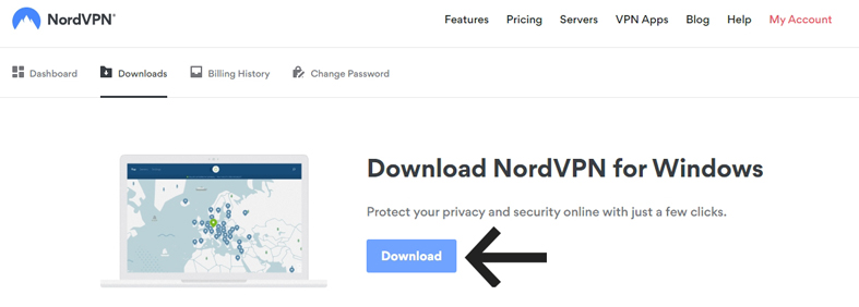 how to download the NordVPN application image