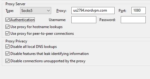 the selected options in utorrent screenshot