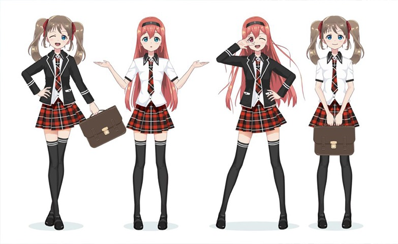 an image of anime schoolgirls