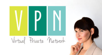 vpn virtual private network image with woman