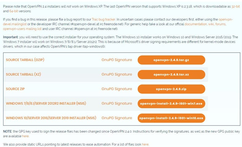 download openvpn page