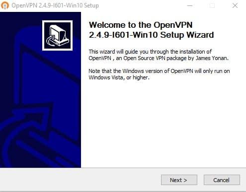 open vpn setup part one