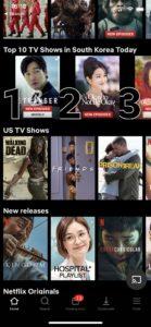South Korean Netflix TV Shows screen