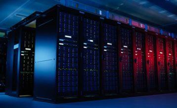 a large server room