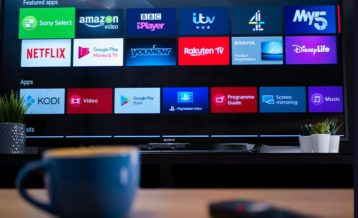 a set of applications that are running on a television