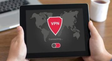 an image of a person using a vpn on a tablet