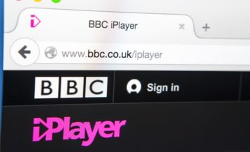 an image of bbc iplayer running on an internet browser