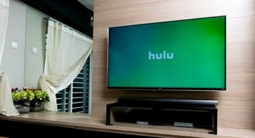 an image of hulu running on a flat screen TV