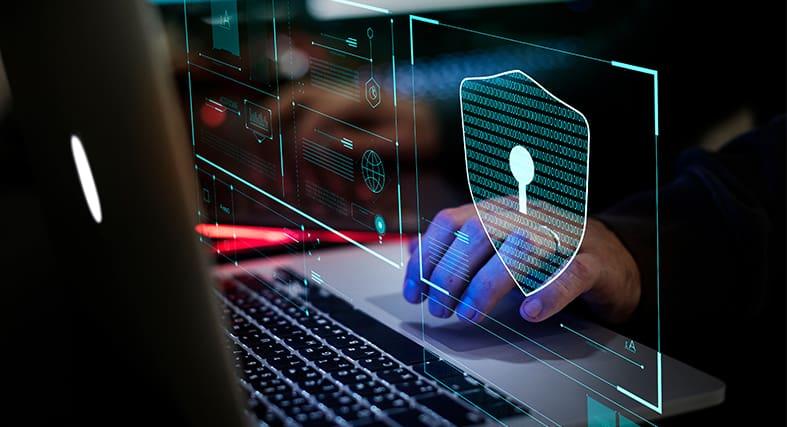 cybersecurity laptop image showcasing usage
