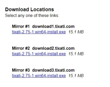 Download theTixati client