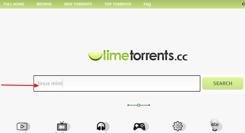 How To Use LimeTorrents - making a search