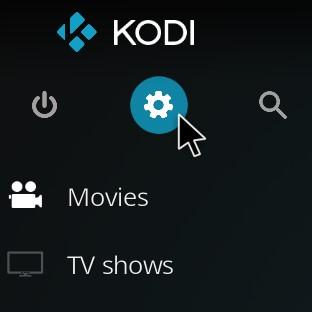 the settings tab of kodi