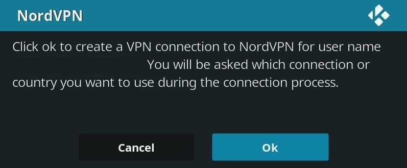 confirming that the connection can be used