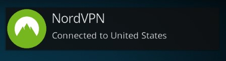 NordVPN connection to United States accomplished successfully