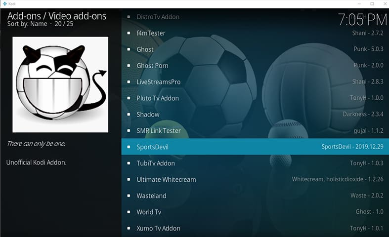 Sports Devil Kodi Guide Images Step 13