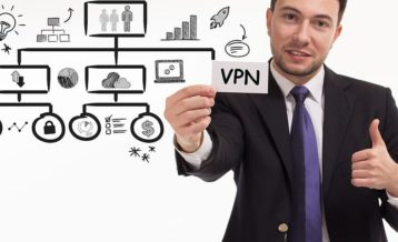 a person giving the thumbs up to a vpn