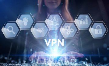 a person using a futuristic version of a vpn