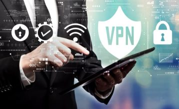 a professional businessman using the power of the vpn for his business needs