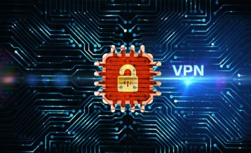 a vpn locking your data making it private