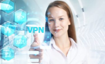 a woman giving a vpn a thumbs up