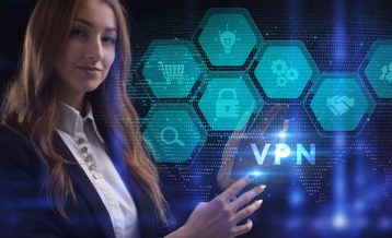 a woman using the power of a vpn network to connect to the internet
