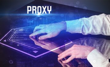 an image of a person using a proxy