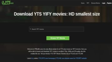 an image of Yify website