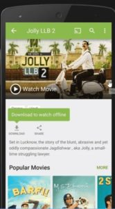 Hotstar running on a mobile device