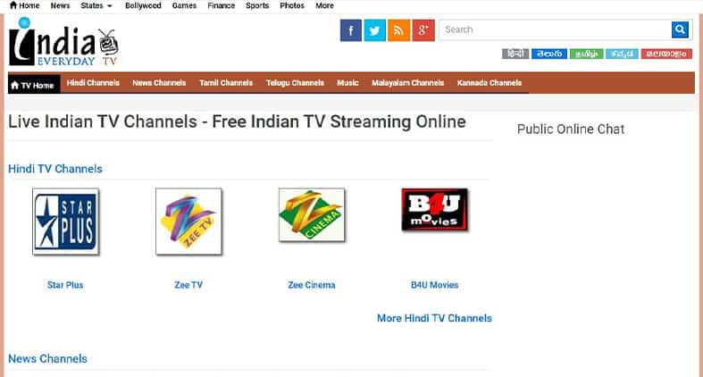 India Everyday TV homepage screenshot