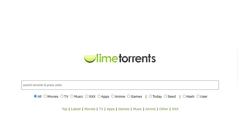 LimeTorrents image screenshot