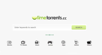 lime torrents proxy image screenshot