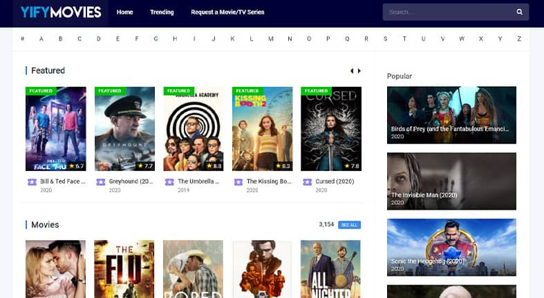moviesyify online homepage image