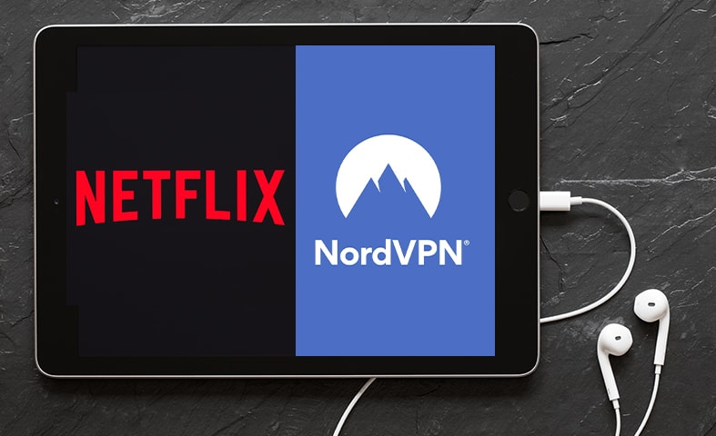 netflix and nordvpn featured image on a tablet