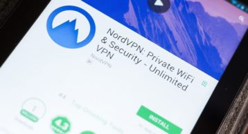 NordVPN on the PlayStore on an Android device