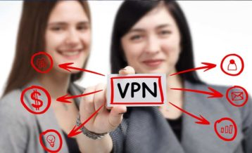 two people enjoying the benefits of havng a vpn