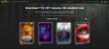 YTS.MX homepage
