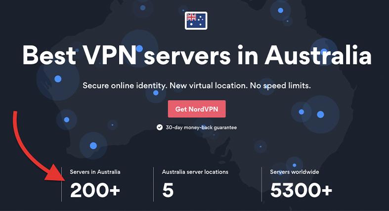 200+ servers in Australia