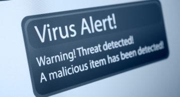 an image showcasing a virus alert