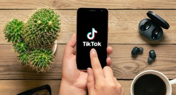 TikTok running on an android device