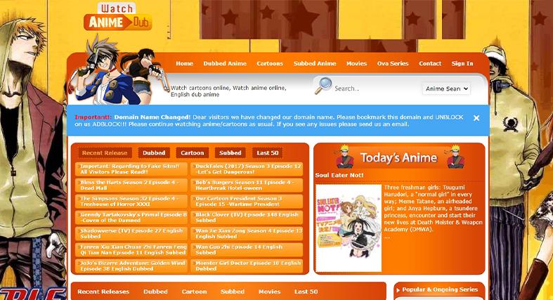 Watch Cartoons Online homepage