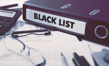 a doccument with the word black list on it