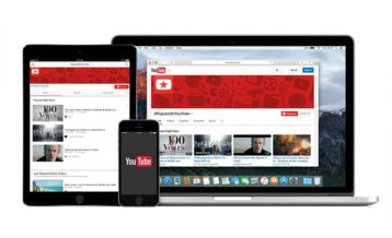 an image of the YouTube website and application running on various devices