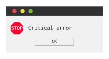 an image showcasing a critical error