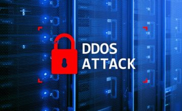 DDoS lock red on a server room