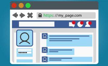 https website vector image