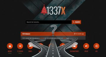 An image featuring the homepage of the 1337x website with multiple roads on the bottom going in different directions representing 1337x alternatives