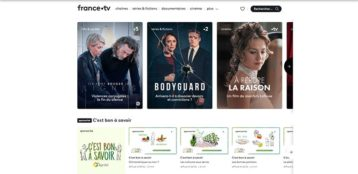 An image featuring the homepage of the France.Tv website